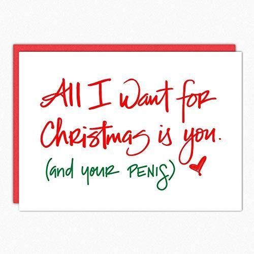 Christmas Friends Card - Naughty Christmas Cards. All I Want Is You 100. Sexy Christmas Cards. Christmas Card For Boyfriend. Boyfriend Christmas Card. Husband Christmas Card Funny. Boyfriend Christmas Gift