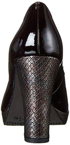Tamaris22435 - Zapatos de Tacón Mujer Rojo (VINE PAT./STR. 519)