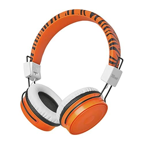 chollos oferta descuentos barato Trust Comi Auriculares inalámbricos con Bluetooth para Uso Infantil Naranja