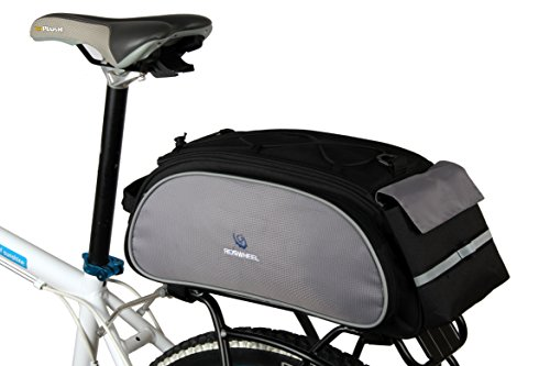Best Fit For U Roswheel Bicycle Cycling Bike Saddle Rack Seat Cargo Bag Rear Pack Trunk Pannier Handbag Blue Outdoor Traveling New(Black) by SunbowStar