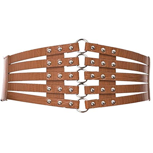 Women's Vintage Gothic Stretch Apparel Belts (XL,Brown)