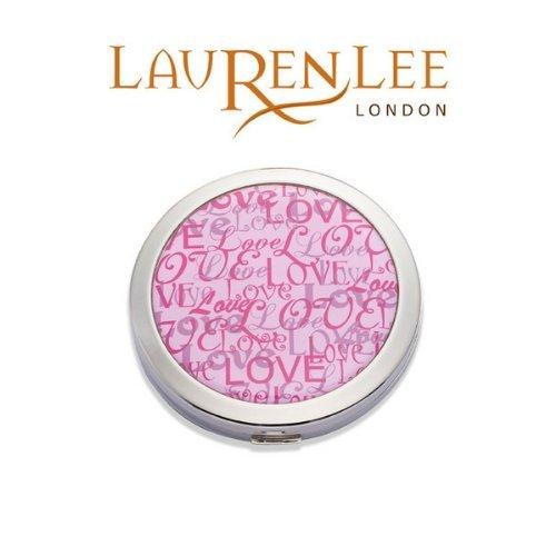 Pink Love Ladies Compact Mirror by Lauren Lee by Lauren Lee