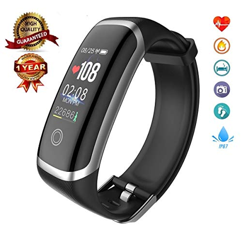 FTHR Fitness Tracker HR,Heart Rate Sleep Monitor Watch with Activity Step Health Band Calorie Counter,Wearable Smart Sport Wristband Bracelet,Exercise Pedometer for Woman Men Kids (Best Wearable Calorie Counter)