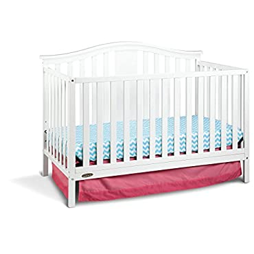 Graco Solano 4-in-1 Convertible Crib with Bonus Mattress in White