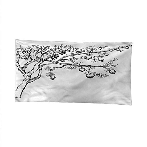Treefunny tapestryquote tapestryBlossoming Pomegranate Tree 60W x 51L Inch
