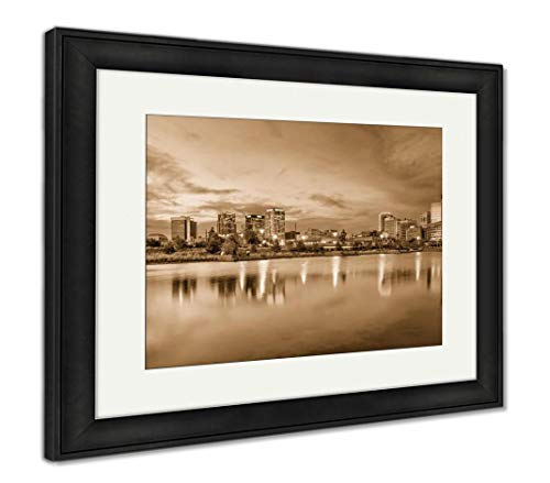 (Ashley Framed Prints Birmingham, Alabama, USA, Wall Art Home Decoration, Sepia, 30x35 (Frame Size), Black Frame, AG32675378)
