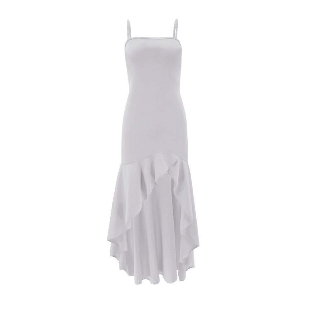 SKBOOS Kleiden ärmelloses böhmisches Kleid Dame Dame Dame Strand Sommer hoch-niedrig gekräuselten Riemchen Hüfte Kleid B07QRS63BB Freizeit Leidenschaftliches Leben b59f10