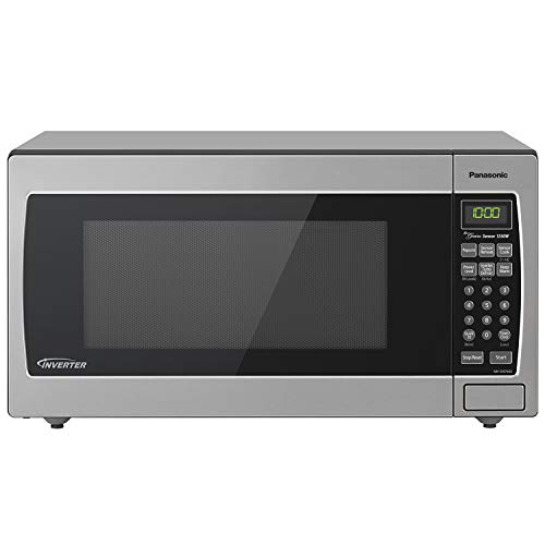 affordable Panasonic Microwave Oven NN-SN766S Stainless Steel Countertop/Built-In with Inverter Technology and Genius Sensor, 1.6 Cu. Ft, 1250W