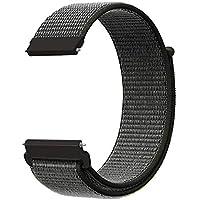 KNY 2125205787 Samsung Galaxy Gear S3 (22mm) İçin Kumaş Desenli Çırtçırlı Kayış-Kordon, Koyu Gri