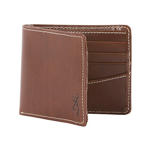 Browning Bi-Fold Cognac Leather Wallet - Brown (Signature Leather Billfold)