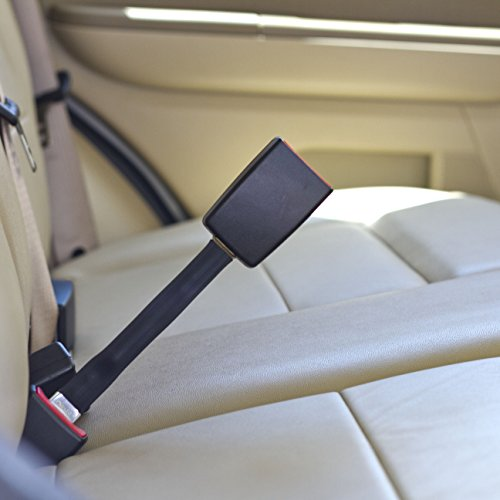 Car Seat Belt Extender for 2002 Mitsubishi Lancer Rally (front seats) - Rigid Style Available in Black, Gray & Beige