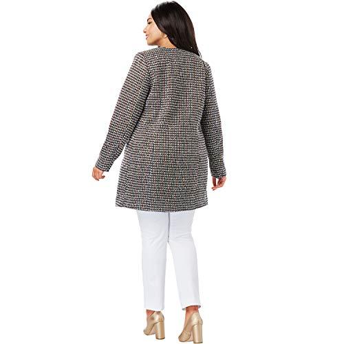 Jessica London Women's Plus Size Tweed Topper - Tweed Multi Color, 20 - Jessica Blazer Tweed