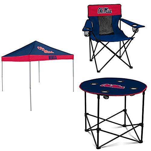 (Ole Miss Tent, Table and Chair Package)