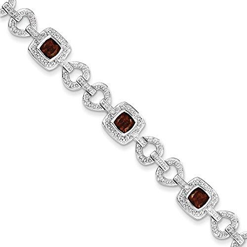 Argent Sterling diamant et grenat-JewelryWeb Bracelet