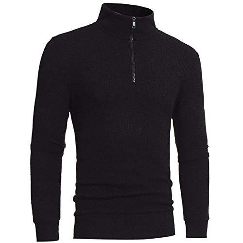 Collar Casual Moda Punto Uno Hombres Media Cuello Altura Jersey E Mismo Invierno De Otoño Negro Alto Suéter Cultivo Simple x0rw0q7B1