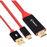 Doitby USB C to HDMI Cable Type C to HDMI 4K@60Hz Plug-and-Play 4K Connector Compatible with iMac,MacBook Pro,Samsung Galaxy S8/S9/S8 Plus/Note 8, Dell XPS,ect [Thunderbolt 3 Compatible] 6FT/1.8M