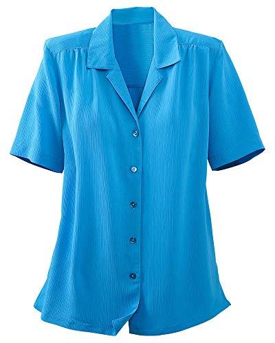 Donnkenny Solid Camp Shirt, Hawaiian Blue, X-Large