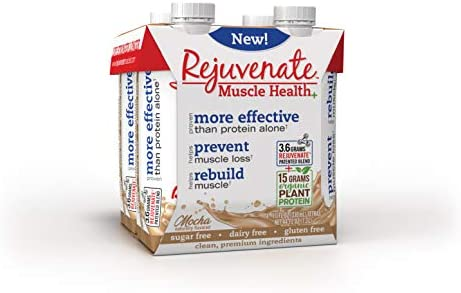Rejuvenate – Ready to Drink – 15g Organic Plant Based – Proven Muscle Health Supplement – Mocha, Pack of 12, 330ml Bottles