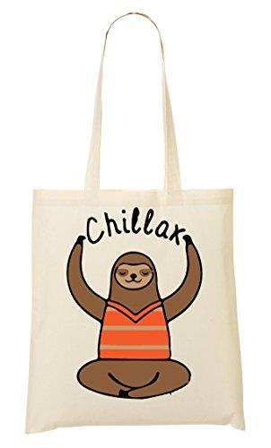 Sac Sloth Provisions Fourre Tout À Sac Says CP Chillax Funny Yoga fqO1WnT
