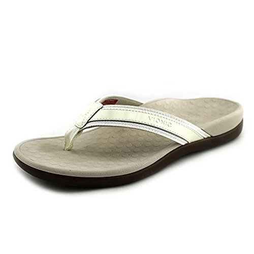 Vionic Women's Tide II White Sandal (Best Sandals For Achilles Tendonitis)