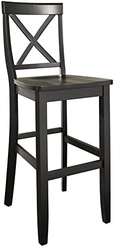Fabulous Crosley Furniture Cf500430 Bk X Back Bar Stool Set Of 2 30 Inch Black Ibusinesslaw Wood Chair Design Ideas Ibusinesslaworg