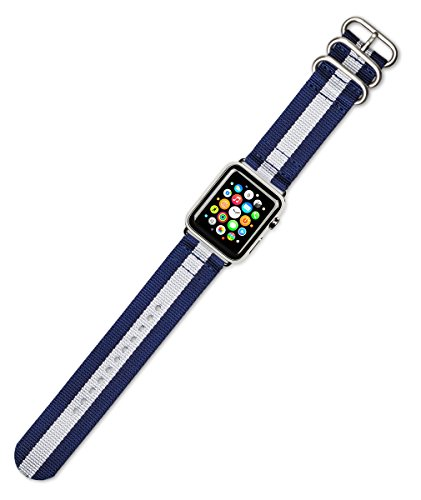 debeer-replacement-watch-band-2-piece-nylon-navy-with-white-stripe-fits-38mm-series-1-2-silver-adapt