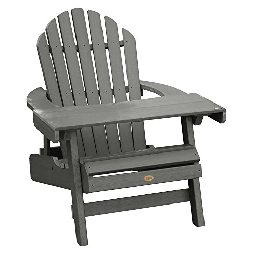 Highwood AD-KITCHL4-CGE Adirondack Chair with Laptop Table, Coastal (Teak Table And Chairs)
