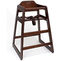 Lipper International 516WN Childs High Chair, 20 W x 19.75 D x 28.75 H, Walnut Finish