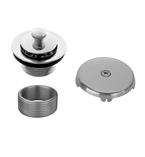 Matte Black Standard Plumbing Supply Jaclo 540-MBK Lift and Turn Drain Strainer with Single Hole Faceplate