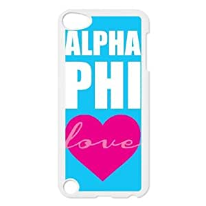Durable Hard cover Customized TPU case Love Alpha Phi iPod Touch 5 Case White