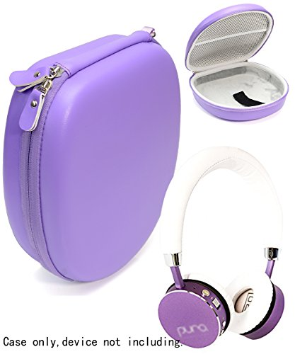 Price comparison product image Purple Case for Bose QuietComfort 35, 25, 15, 3, LilGadgets, Puro Kids Headphones(replacement case), Satechi Aluminum, bebe Boom Wireless Headphones, SONY MDRXB950, MDRXB650; Sennheiser MM550X
