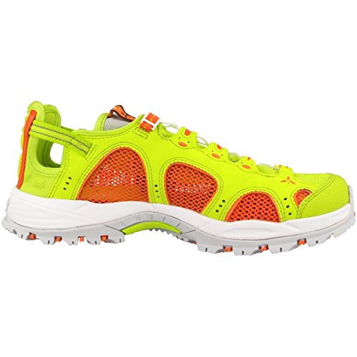 Salomon Techamphibian 3 W, Sneakers trail-running femme Vert citron / Corail / Blanc (Lime Punch/Living Coral/White)