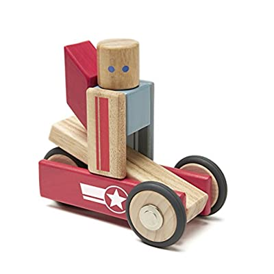 Tegu Daredevil Magnetic Wooden Block Set: Toys & Games