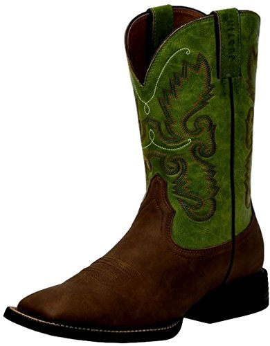 Justin Men's Farm And Ranch Synthetic Cowboy Boot Square Toe Bay Apache 12 D(M) US - Justin Mens Ranch