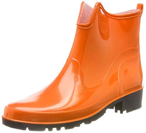 Lemigo Womens Ankle Rubber Wellington Boots Elke 930 Orange iUrNP