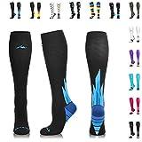 NEWZILL Compression Socks (20-30Mmhg) For Men & Women - Stockings For Running, Medical, Athletic, Edema, Diabetic, Varicose Veins, Travel, Pregnancy, Shin Splints. (i-Ice, Small)