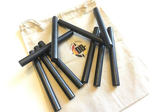 "4DB 1/2""x5"" Survival Flint Ferro Ferrocerium Rod Fire Steel Mischmetal Firestarting Rod (Bulk Lot of 10) Blanks DIY Fire Kit bushcraft camping projects"