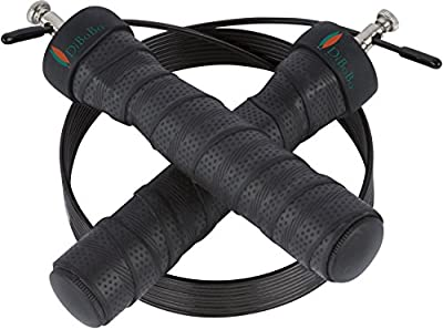 DiBoBo Premium Quality Jump Rope for Home Exercise or Gym Fitness - High-Speed Cardio for MMA, Boxing and Athletic Training - Adjustable Length, Anti-Tangle, Anti-Kink