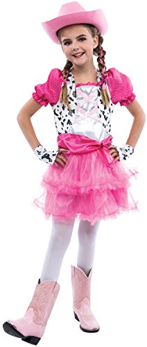 [Living Fiction Adorable Cowgirl 3pc Girl Costume, Pink, Medium 8-10] (Calamity Jane Costumes To)