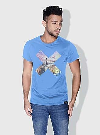 Creo Palestine X City Love T-Shirts For Men - S, Blue