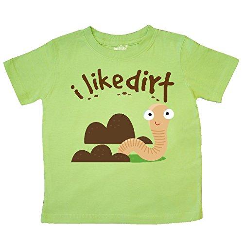 inktastic - I Like Dirt Earthworm Toddler T-Shirt 3T Key Lime 15b59