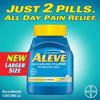 Aleve ® Caplets analgésique antipyrétique, 320 Caplets naproxène sodique 220 mg (AINS) / Soins de santé personnels de santé