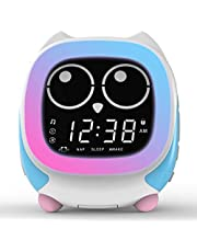 iTOMA Addo Ready-to-Rise Children's Alarm Clock with Sleep Trainer, Nightime LEDs and Sleep Sound Machine, Cute Kids Night Light,Dimmable Colorful Light, Fabulous Ideal Kids(CKS912)