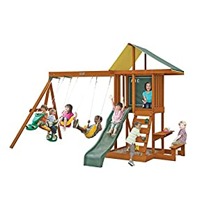 Big Backyard Springfield II Wooden Swing Set By KidKraft