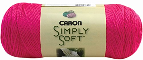 Soft Acrylic Yarn (Caron Simply Soft Solids Yarn, 6 Ounce, Neon Pink, Single)