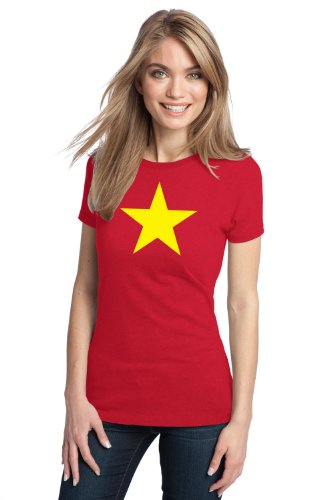 VIETNAM FLAG Ladies' T-shirt / National Vietnamese Star, Historic Costume Tee