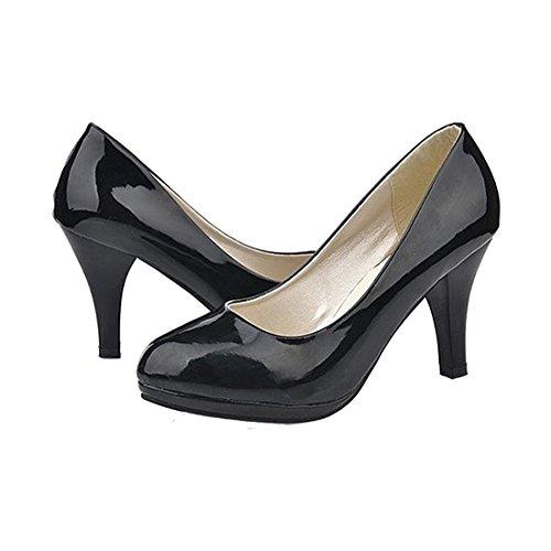 Talons Dames Mariage Bout Classique Bureau Sodial Femmes De Sexy A Rond Bas Chaussure Plateforme Pour Des Us3 Noir Ou 5 gagPYnwx