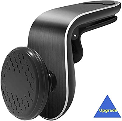 Hands Free Universal Smart Phone GPS Holder for Car Air Vent and Any Smartphone Upgrade L-Type 5N52 Magnets and 360/°Rotary Magnetic Phone Car Mount