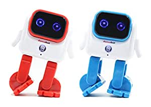 DANCEBOT Novelty Dancing Robot Speaker Bluetooth Portable Speaker Robot Wireless Electronic Gift for Families Kids Adults (2 Pack)