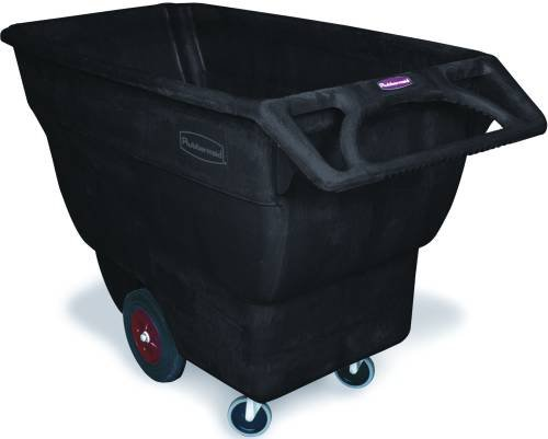 Rubbermaid® Commercial Standard-duty Structural Foam Tilt Truck, Black, 3/4 Cu. (Standard Duty Tilt Truck)